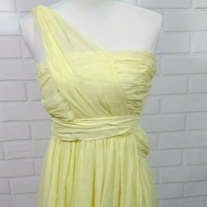 Topshop Kate Moss Size 2 Yellow Dress One Shoulder